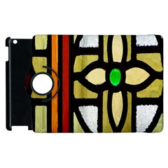 A Detail Of A Stained Glass Window Apple Ipad 3/4 Flip 360 Case by Amaryn4rt