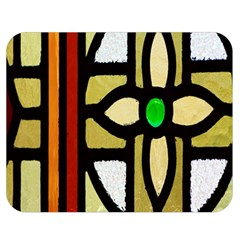 A Detail Of A Stained Glass Window Double Sided Flano Blanket (medium)  by Amaryn4rt