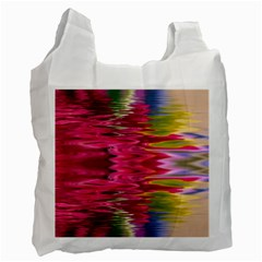 Abstract Pink Colorful Water Background Recycle Bag (one Side) by Amaryn4rt