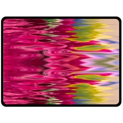 Abstract Pink Colorful Water Background Double Sided Fleece Blanket (large)