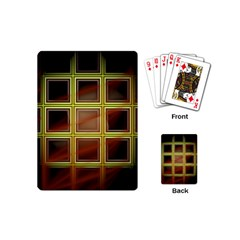 Drawing Of A Color Fractal Window Playing Cards (mini)  by Amaryn4rt