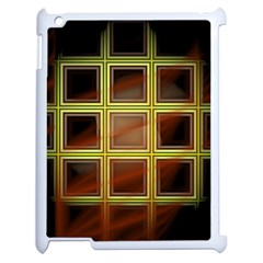 Drawing Of A Color Fractal Window Apple Ipad 2 Case (white) by Amaryn4rt