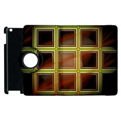 Drawing Of A Color Fractal Window Apple Ipad 2 Flip 360 Case by Amaryn4rt