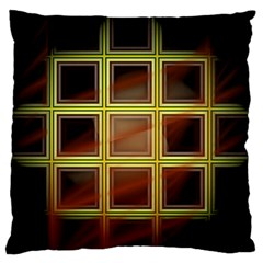 Drawing Of A Color Fractal Window Standard Flano Cushion Case (one Side) by Amaryn4rt