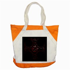 Fractal Red Cross On Black Background Accent Tote Bag by Amaryn4rt