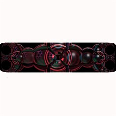 Fractal Red Cross On Black Background Large Bar Mats by Amaryn4rt