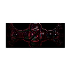 Fractal Red Cross On Black Background Cosmetic Storage Cases by Amaryn4rt