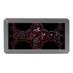 Fractal Red Cross On Black Background Memory Card Reader (mini) by Amaryn4rt