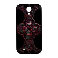 Fractal Red Cross On Black Background Samsung Galaxy S4 I9500/i9505  Hardshell Back Case by Amaryn4rt