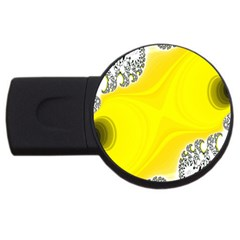 Fractal Abstract Background Usb Flash Drive Round (4 Gb) by Amaryn4rt