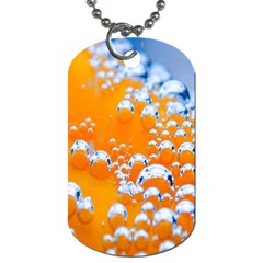 Bubbles Background Dog Tag (one Side) by Amaryn4rt
