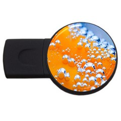 Bubbles Background Usb Flash Drive Round (2 Gb) by Amaryn4rt