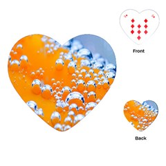 Bubbles Background Playing Cards (heart)  by Amaryn4rt