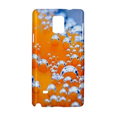 Bubbles Background Samsung Galaxy Note 4 Hardshell Case by Amaryn4rt