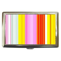 Multi Colored Bright Stripes Striped Background Wallpaper Cigarette Money Cases by Amaryn4rt