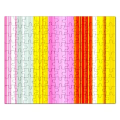 Multi Colored Bright Stripes Striped Background Wallpaper Rectangular Jigsaw Puzzl by Amaryn4rt
