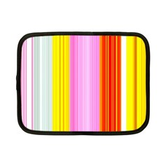 Multi Colored Bright Stripes Striped Background Wallpaper Netbook Case (small)  by Amaryn4rt