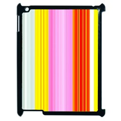 Multi Colored Bright Stripes Striped Background Wallpaper Apple Ipad 2 Case (black) by Amaryn4rt