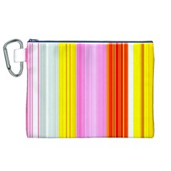 Multi Colored Bright Stripes Striped Background Wallpaper Canvas Cosmetic Bag (xl) by Amaryn4rt