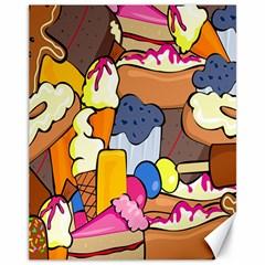 Sweet Stuff Digitally Created Sweet Food Wallpaper Canvas 11  X 14   by Amaryn4rt