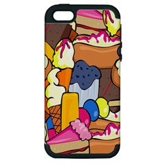 Sweet Stuff Digitally Created Sweet Food Wallpaper Apple Iphone 5 Hardshell Case (pc+silicone) by Amaryn4rt