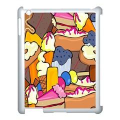 Sweet Stuff Digitally Created Sweet Food Wallpaper Apple Ipad 3/4 Case (white) by Amaryn4rt