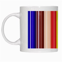 Colorful Striped Background Wallpaper Pattern White Mugs by Amaryn4rt