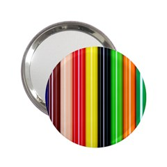Colorful Striped Background Wallpaper Pattern 2 25  Handbag Mirrors