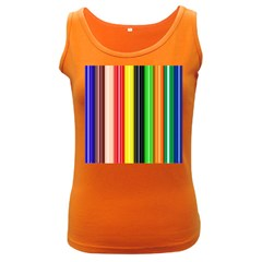 Colorful Striped Background Wallpaper Pattern Women s Dark Tank Top by Amaryn4rt