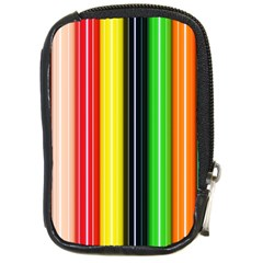 Colorful Striped Background Wallpaper Pattern Compact Camera Cases by Amaryn4rt