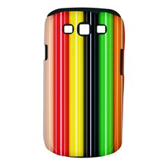 Colorful Striped Background Wallpaper Pattern Samsung Galaxy S Iii Classic Hardshell Case (pc+silicone) by Amaryn4rt