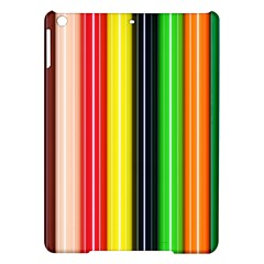 Colorful Striped Background Wallpaper Pattern Ipad Air Hardshell Cases by Amaryn4rt