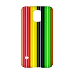 Colorful Striped Background Wallpaper Pattern Samsung Galaxy S5 Hardshell Case  by Amaryn4rt