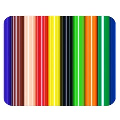 Colorful Striped Background Wallpaper Pattern Double Sided Flano Blanket (medium)  by Amaryn4rt