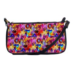 Spring Hearts Bohemian Artwork Shoulder Clutch Bags by KirstenStar