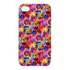 Spring Hearts Bohemian Artwork Apple Iphone 4/4s Premium Hardshell Case by KirstenStar