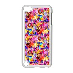 Spring Hearts Bohemian Artwork Apple Ipod Touch 5 Case (white) by KirstenStar