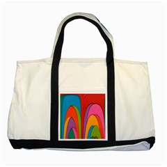 Modern Abstract Colorful Stripes Wallpaper Background Two Tone Tote Bag