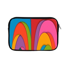 Modern Abstract Colorful Stripes Wallpaper Background Apple Ipad Mini Zipper Cases by Amaryn4rt