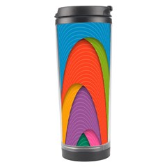 Modern Abstract Colorful Stripes Wallpaper Background Travel Tumbler by Amaryn4rt
