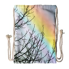 Rainbow Sky Spectrum Rainbow Colors Drawstring Bag (large) by Amaryn4rt