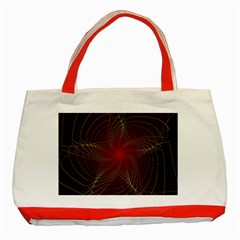 Fractal Red Star Isolated On Black Background Classic Tote Bag (red) by Amaryn4rt
