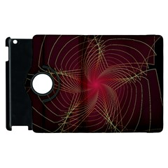 Fractal Red Star Isolated On Black Background Apple Ipad 3/4 Flip 360 Case by Amaryn4rt
