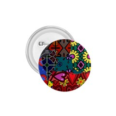 Digitally Created Abstract Patchwork Collage Pattern 1.75  Buttons by Amaryn4rt