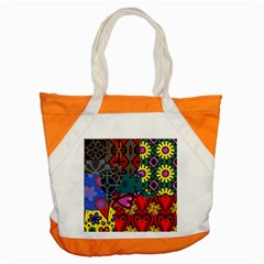 Digitally Created Abstract Patchwork Collage Pattern Accent Tote Bag by Amaryn4rt