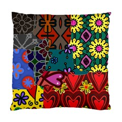 Digitally Created Abstract Patchwork Collage Pattern Standard Cushion Case (one Side) by Amaryn4rt