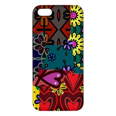 Digitally Created Abstract Patchwork Collage Pattern Iphone 5s/ Se Premium Hardshell Case by Amaryn4rt
