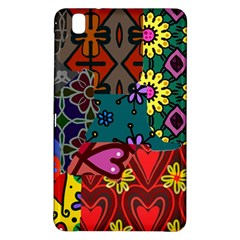 Digitally Created Abstract Patchwork Collage Pattern Samsung Galaxy Tab Pro 8 4 Hardshell Case by Amaryn4rt