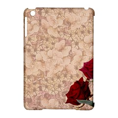 Retro Background Scrapbooking Paper Apple Ipad Mini Hardshell Case (compatible With Smart Cover) by Amaryn4rt