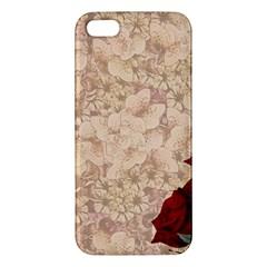 Retro Background Scrapbooking Paper Apple Iphone 5 Premium Hardshell Case by Amaryn4rt